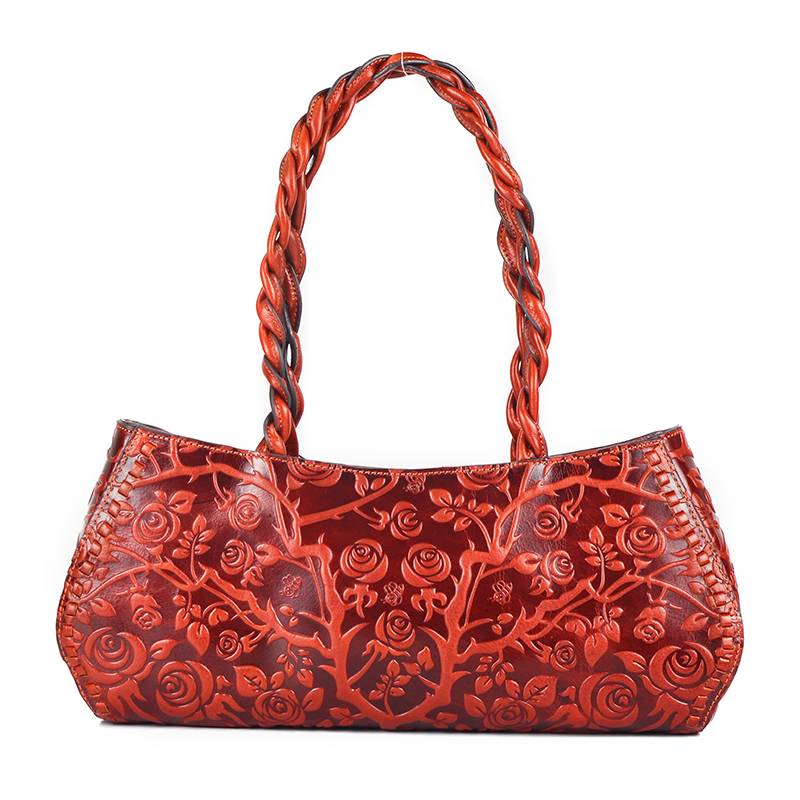 Floral Pattern Genuine Leather Bag LH2086_3 Colors