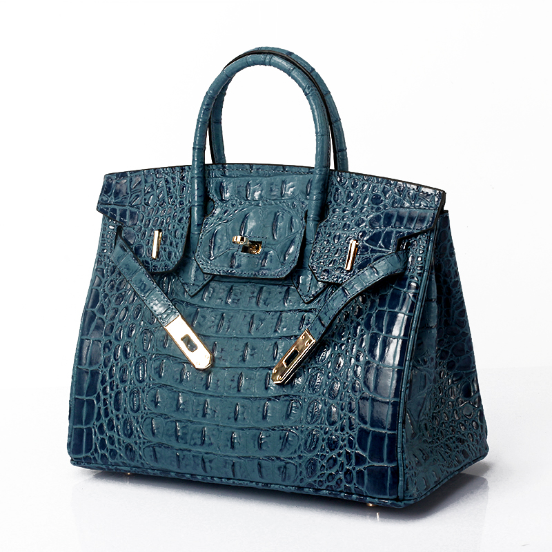 25cm Crocodile Embossed Leather Tote LH1633S_7 Colors