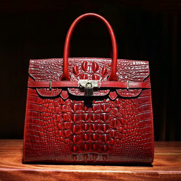 Crocodile Pattern Leather Tote LH1627L_6 Colors