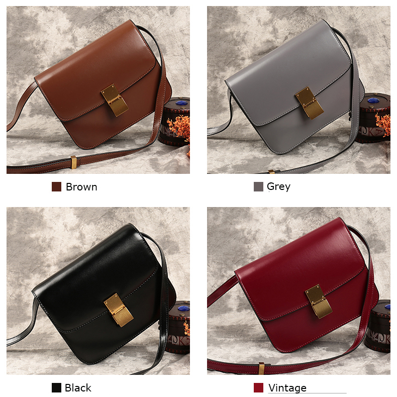 Stylish Womens Leather Crossbody Bag LH2572_4 Colors
