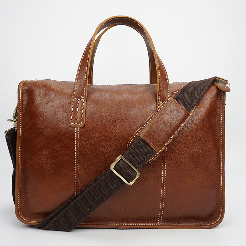 Mens Leather Laptop Courier Bag Briefcase LH2587