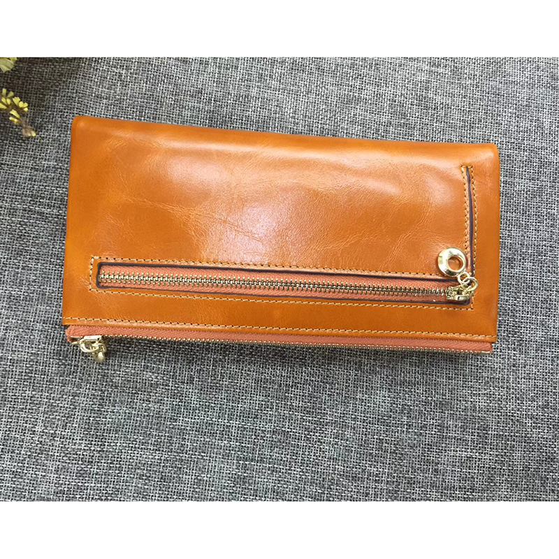Distress Leather Bifold Wallet for Women LH2604_5 Colors