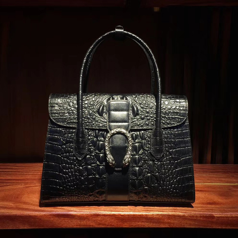 Gorgeous Crocodile Embossed Leather Tote Bag LH2682_5 Colors