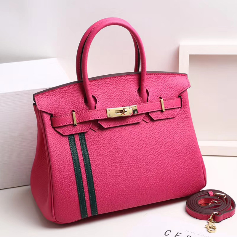 30cm Designer Womens Leather Tote Top Handle Bag LH2737B_4 Colors
