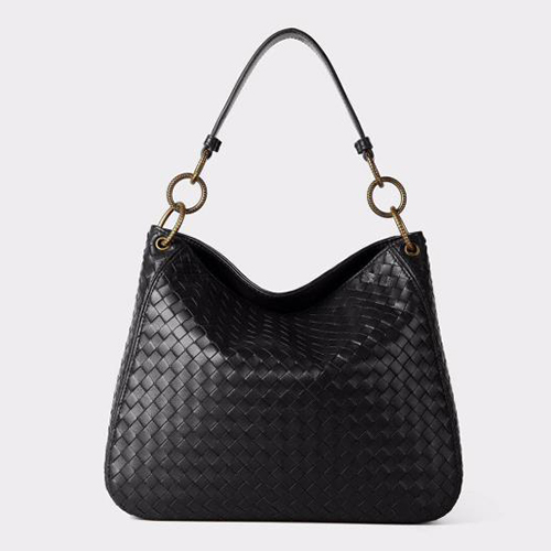 Woven Sheepskin Leather Hobo Bag Women Purse LH2741_4 Colors