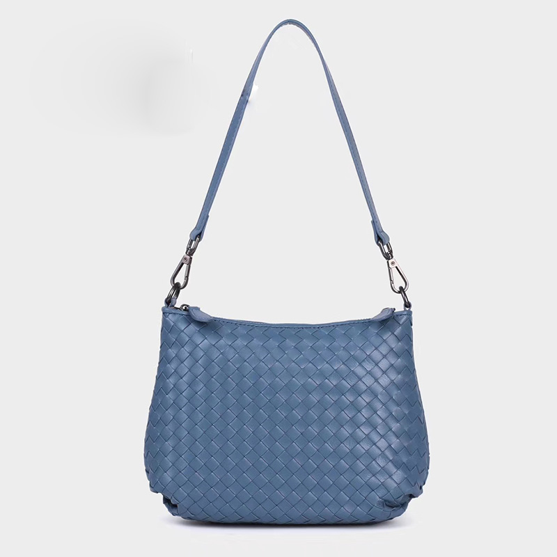 Woven Sheepskin Leather Shoulder Bag LH2770_4 Colors