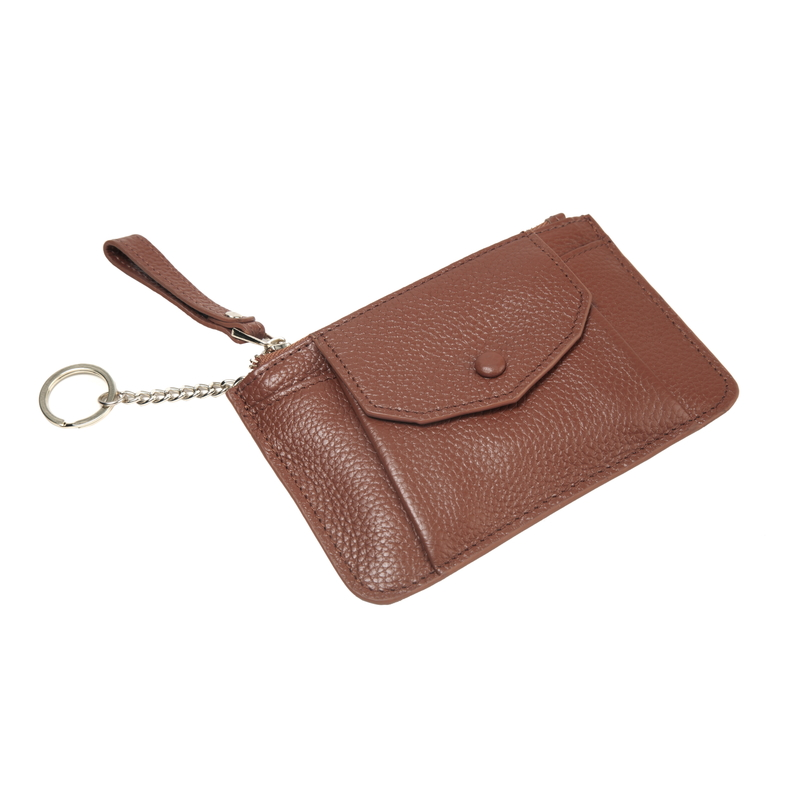 Leather Coin Purse Card Holder Key Chain Bag LH2778_3 Colors