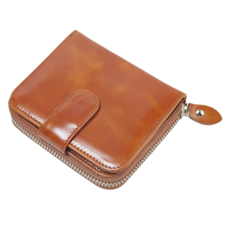 Bifold Leather Wallet Card Holder Coin Purse LH2779_4 Colors