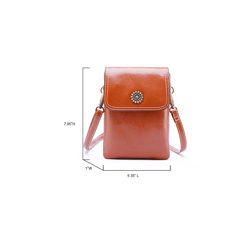 Lady Leather Phone Case Pouch Bag LH2841_2 Colors