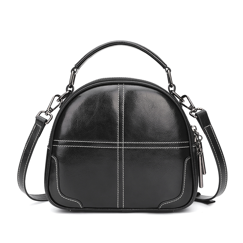 Dome Distress Leather Crossbody Bag Satchel LH2847_3 Colors