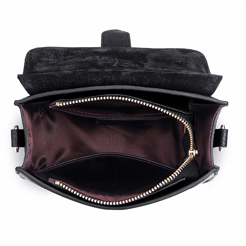 Flap Real Leather Crossbody Bag LH2855_2 Colors