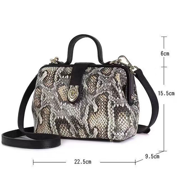 Python Effect Leather Tote Purse for Women LH2976