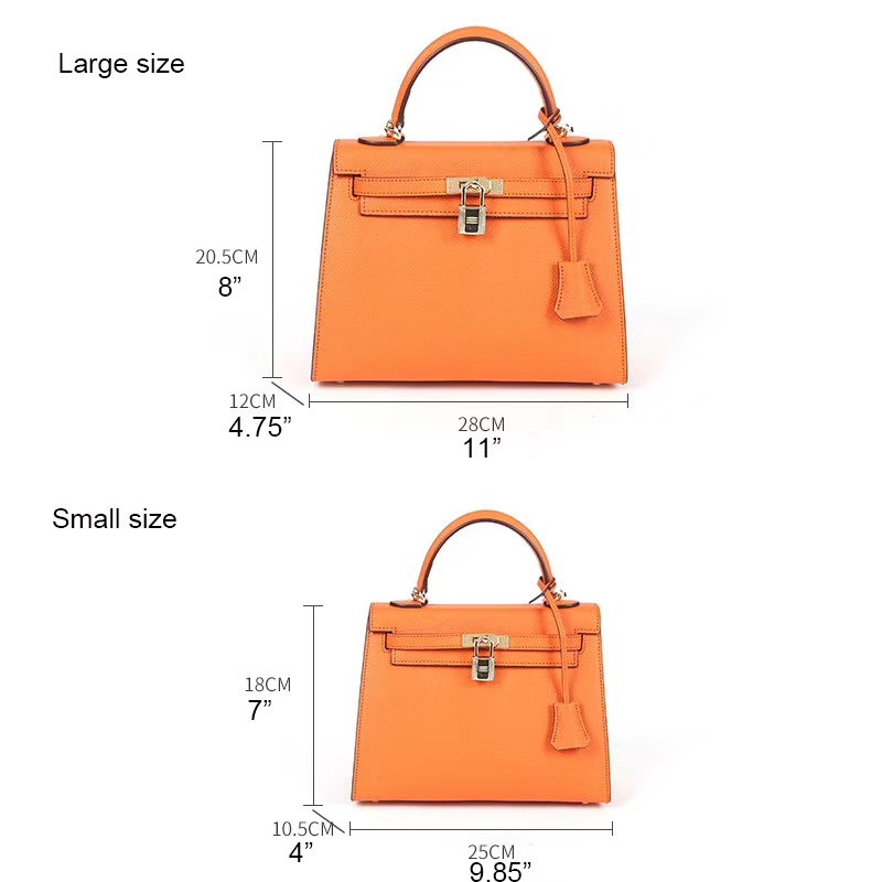 28cm Vertical Ladies Leather Tote Crossbody Bag LH2984L_8 Colors