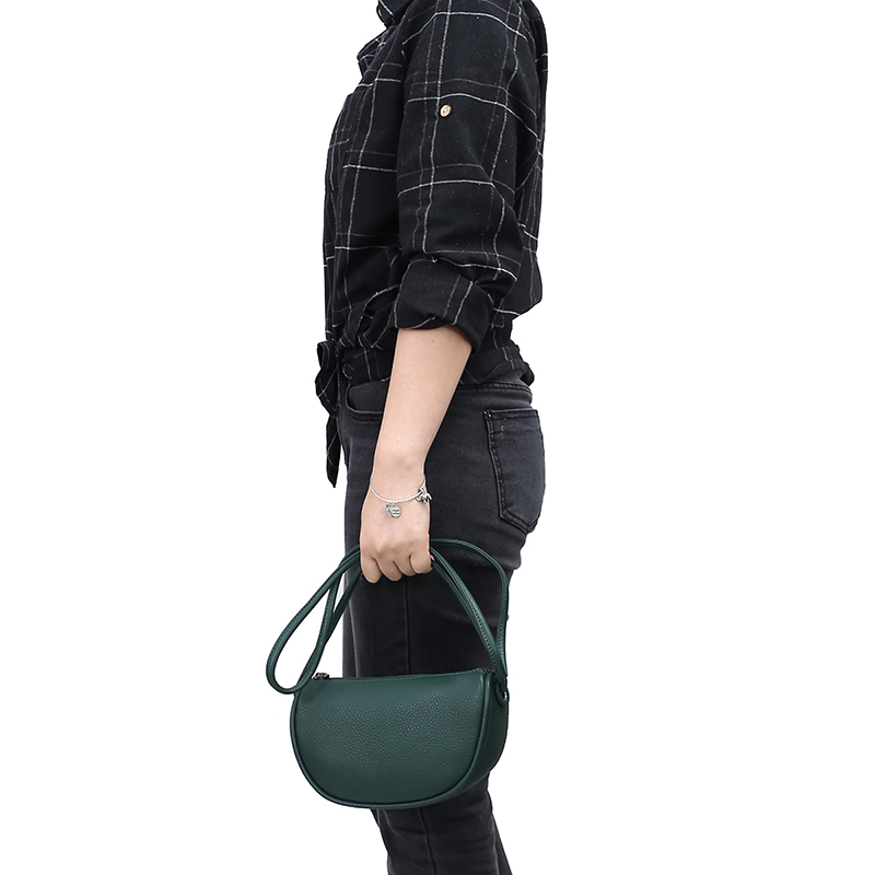 Elegant Pebbled Leather Crossbody Bag LH2989_4 Colors