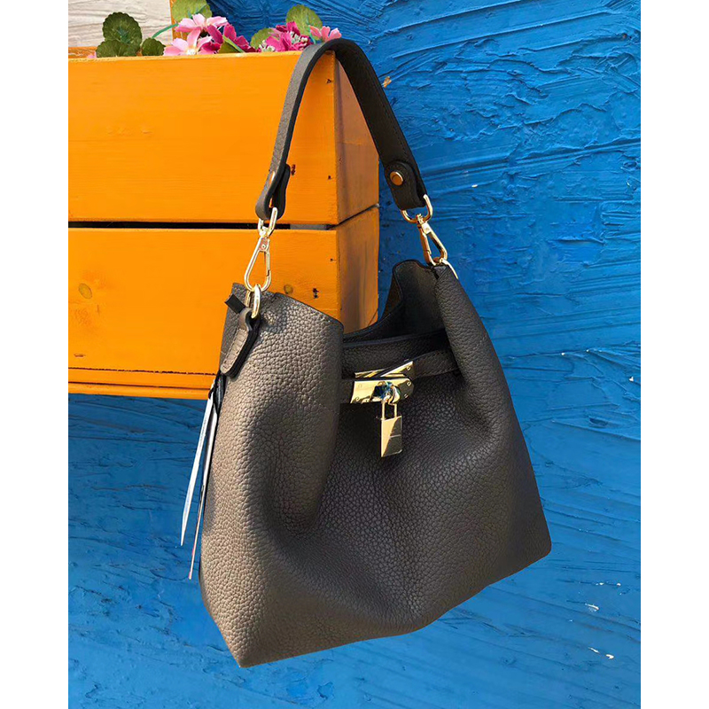 Padlock Real Leather Slouchy Bag Shoulder Bag LH2994_3 Colors