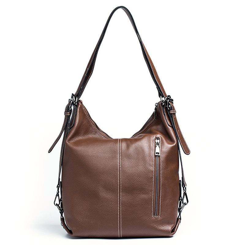 2 Versions Classic Real Leather Shoulder Bag LH2990_2 Colors