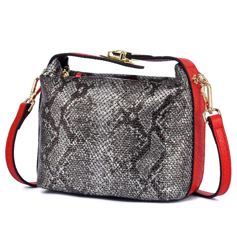 Python Pattern Real Leather Crossbody Bag LH2995_13 Colors