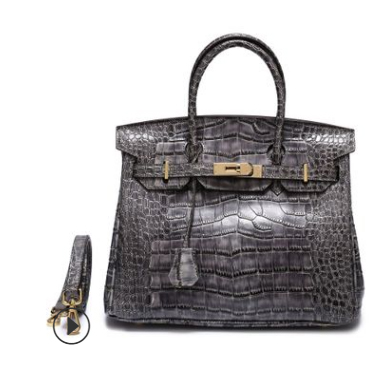 35cm Crocodile Pattern Padlock Leather Tote LH1632L_12 Colors