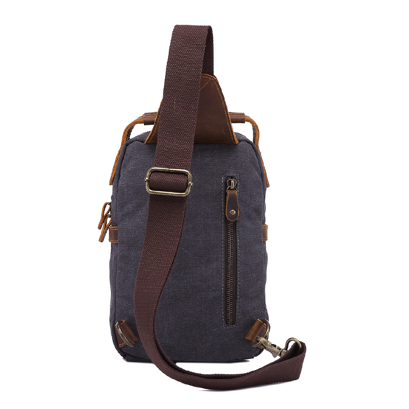 Distressed Leather Chest Bag Sling Bag LH3004_3 Colors