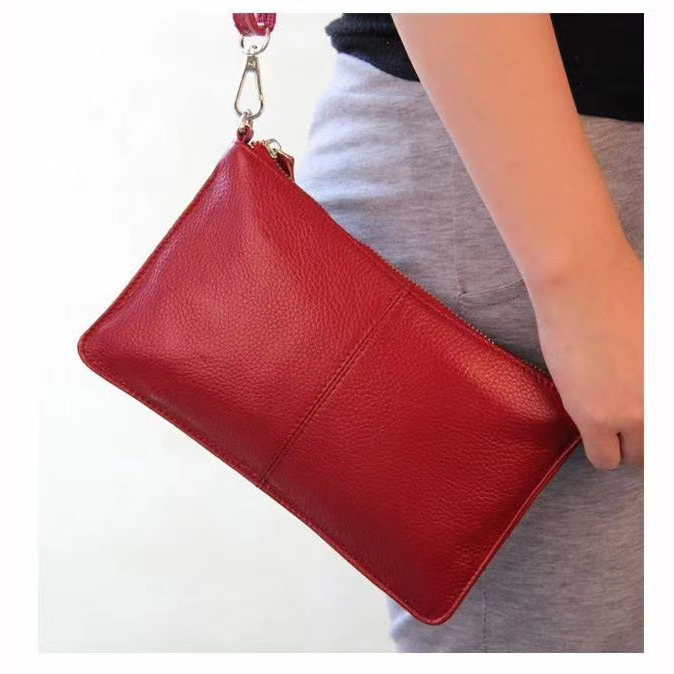Fashion Genuine Leather Coin Purse Clutches LH2099L_6 Colors