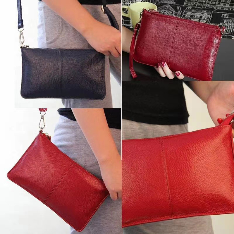 Fashion Genuine Leather Coin Purse Clutches LH2099S_6 Colors