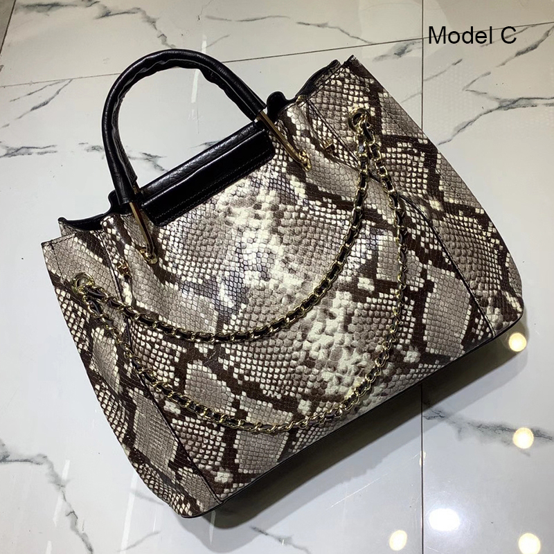 Python Pattern Real Leather Purse for Women LH3031_6 Models