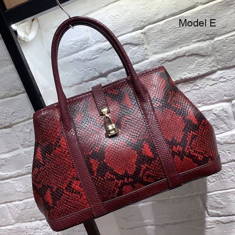 Python Effect Real Leather Purse Women Satchel Bag LH3029_8 Models