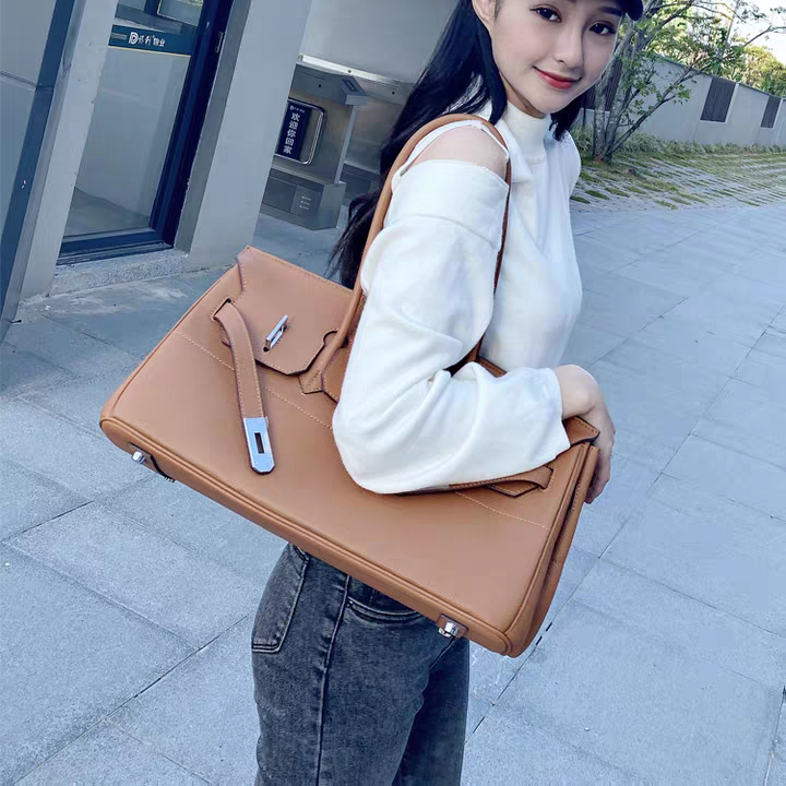 35 Large Genuine Leather Tote Bag Padlock Tote LH3033L_5 Colors