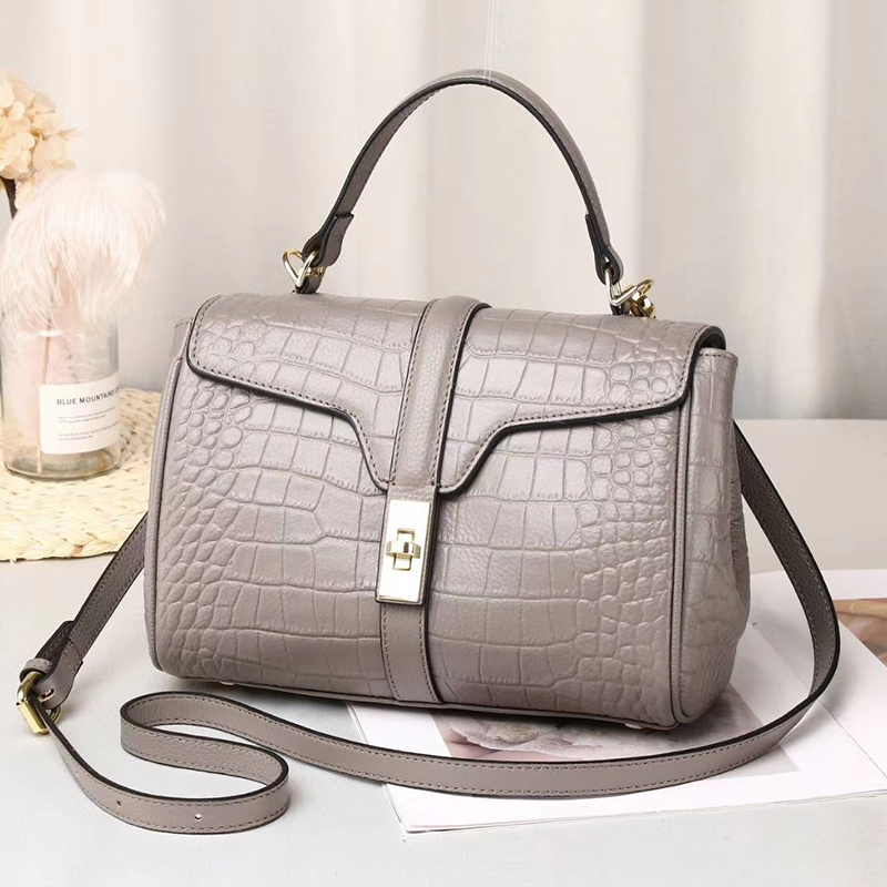 Crocodile Pattern Leather Purse Satchel Handbag LH3049_6 Colors