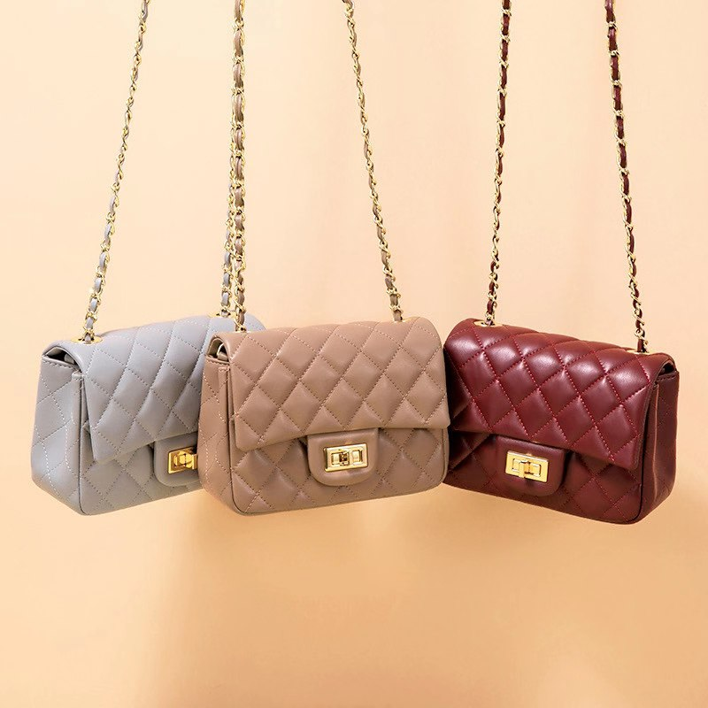 Quilted Genuine Leather Crossbody Bag LH3091S_6 Colors