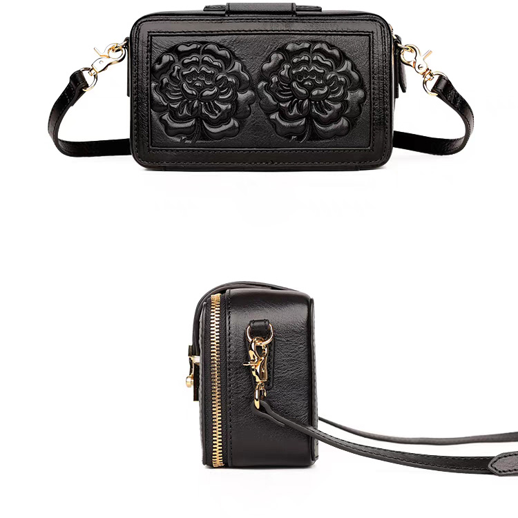 Fashion Floral Leather Cross Body Satchel Purse 3112_5 Colors