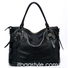 Jones Black Leather Tote LH9908