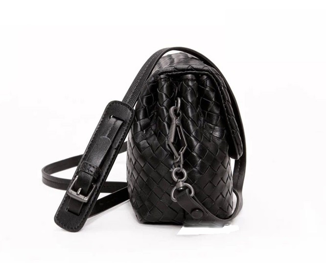 Seal Black Leather Bag LH842