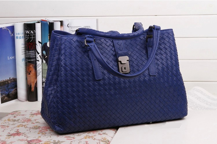 Bice Navy Blue Leather Tote LH850