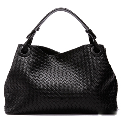 Tiffer Black Leather Tote LH977