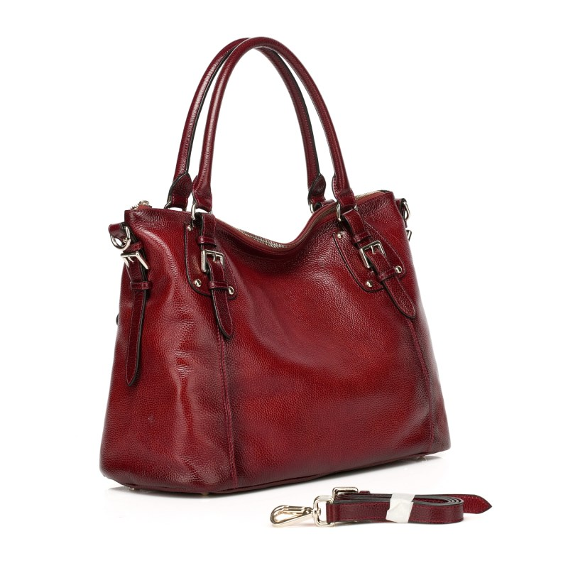 Jones Red Leather Tote LH9908