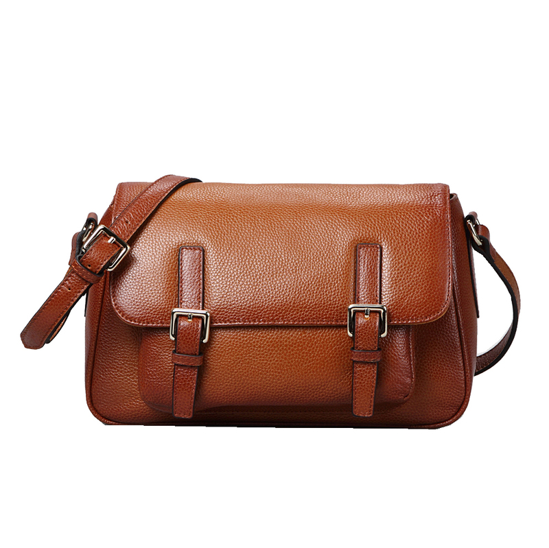 Dufour Brown Leather Satchel LH9052