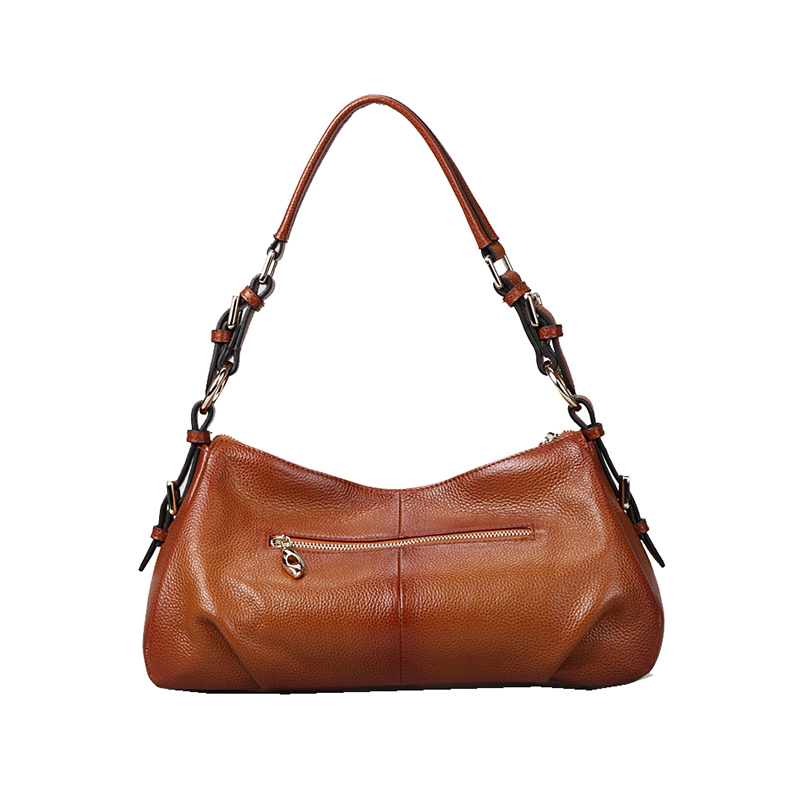 Tasky Brown Leather Tote LH9907