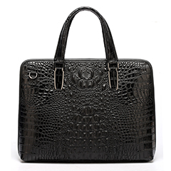 Balck Crocodile Pattern Laptop Bag LH1475