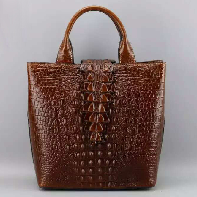 Crocodile Pattern Leather Tote LH1753A_5 Colors