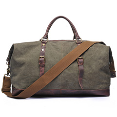 Canvas & Leather Traveling Bag LH1772_3 Colors