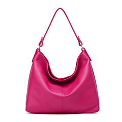 Rose Red Real Leather Hobo Bag LH1580