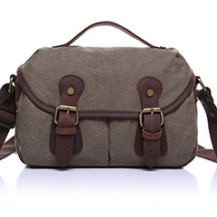 Canvas & Leather Cross Body Messenger Bag LH1830