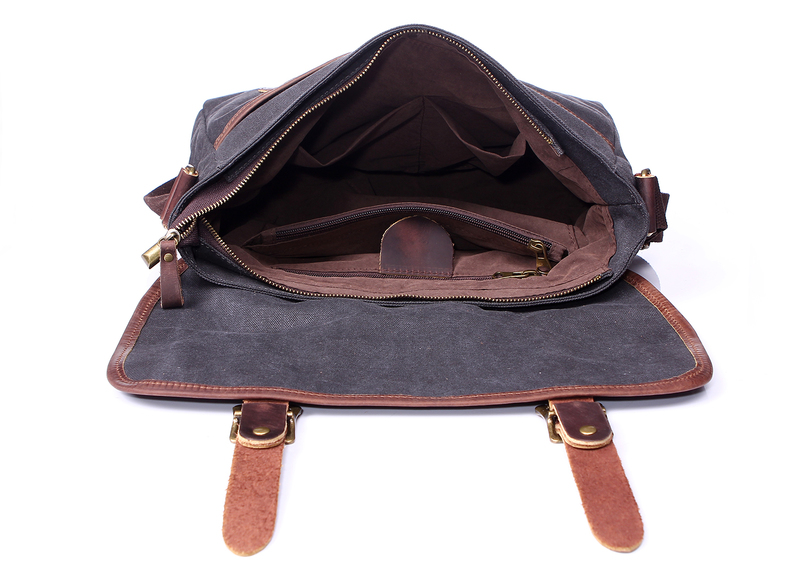 Pouches Canvas & Leather Messenger Bag LH1831A
