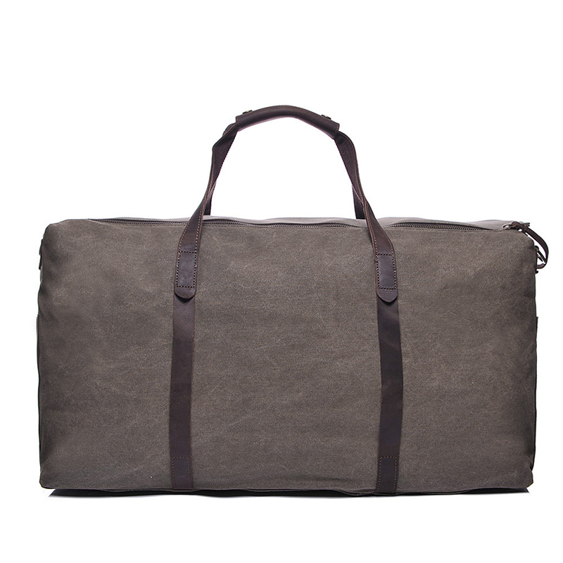 Water Canvas & Leather Duffel Bag LH1949_3 Colors