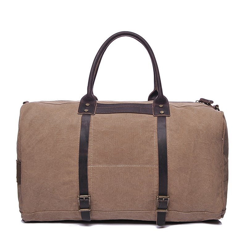 Water Canvas & Leather Over-night Bag LH1950_3 Colors