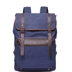 Water Canvas & Leather Backpack LH1953_4 Colors