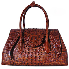 Crocodile Pattern Real Leather Tote LH2023_5 Colors