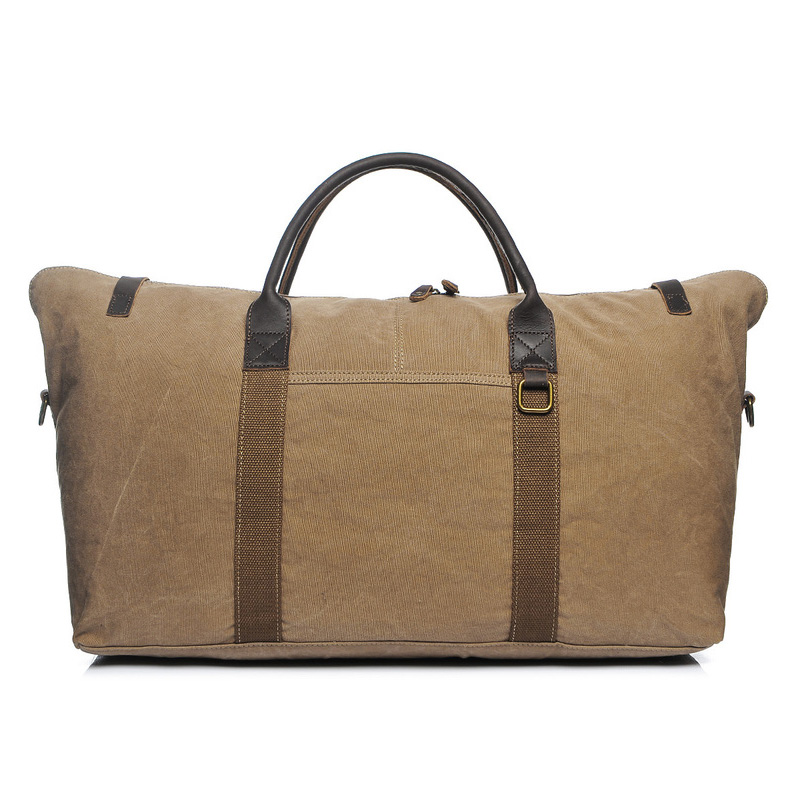 Canvas & Leather Duffel Weekend Bag LH2051_3 Colors