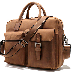 Functional Genuine Leather Laptop Bag LH2143